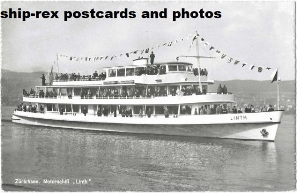 LINTH (Lake Zurich) postcard (b)